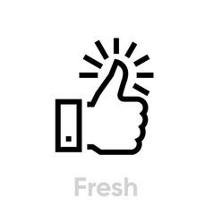 fresh thumb up down icon editable line vector image