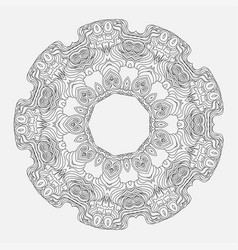 Geometrical and flower round mandala vector