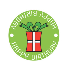 gift color sticker and badge for birthday vector image