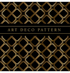 Gold clover shape seamless pattern in ar deco vector