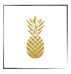 gold pineapple fruit vector image