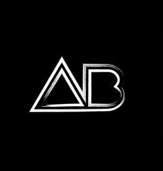 Grunge black and white alphabet letter vector