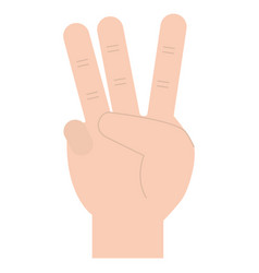 hand counting three on fingers vector image