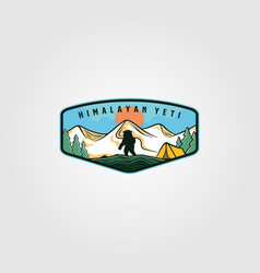 Himalayan yeti vintage adventure outdoor logo vector