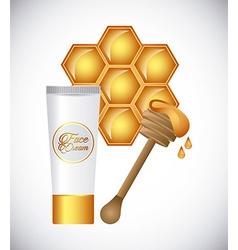 Honey face cream vector