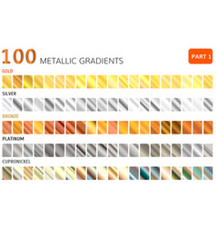 Hundred metal gradients vector