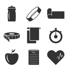 Image of the icons of things that you need to vector