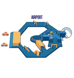 inside of an airport vector image