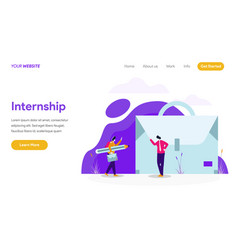 internship job concept vector image