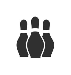 Isolated bowling pins flat design vector