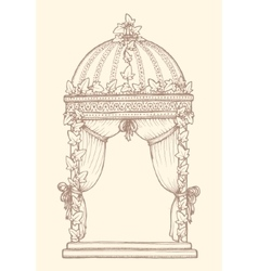 Ivy-covered Wedding Gazebo vector
