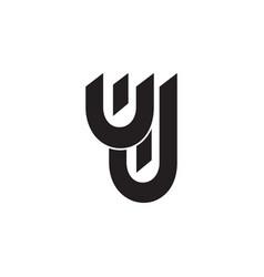 leter uj simple geometric logo vector image