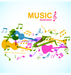 Light musical poster vector