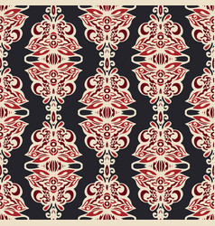 luxury damask seamless floral motif pattern vector image