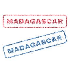 Madagascar textile stamps vector