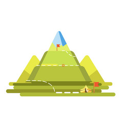 mountain climbing route vector image
