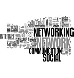 networking word cloud concept vector image vector image