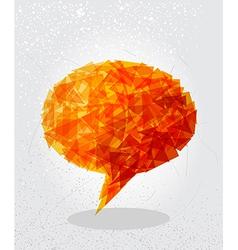 Orange social bubble shape vector image