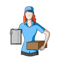 postal couriermail and postman single icon in vector image