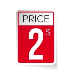 Price Tag sticker - Two usd vector image