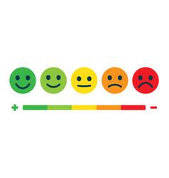 rating feedback scale emotion rating feedback vector image