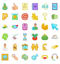 Remainder icons set cartoon style vector