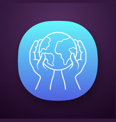 saved planet app icon vector image