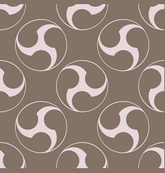 Seamless pattern with japanese symbol tomoe vector