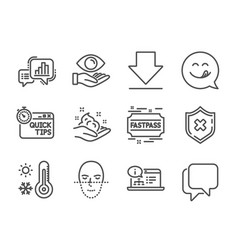 Set business icons such as quick tips reject vector