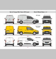 Set cargo mini vans swb l1 2018 vector