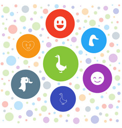 smiling icons vector image