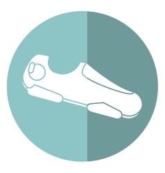 Sneaker shoe run fitness gym shadow vector