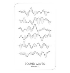 sound wave music voice vibration vector image