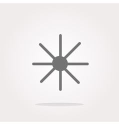 Sun icon on round button collection vector image