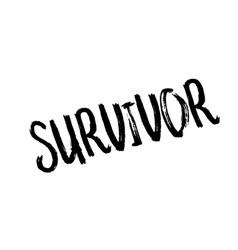 Survivor rubber stamp vector