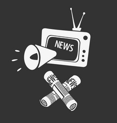 symbol of media propaganda vector image