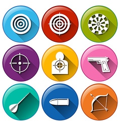 Target icons vector image