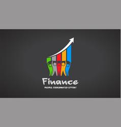 Team of five financial people logo vector