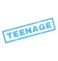 Teenage Rubber Stamp vector