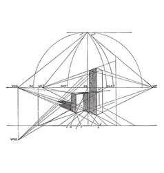Three-dimensional drawing necessary to draw vector