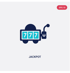 two color jackpot icon from entertainment concept vector image