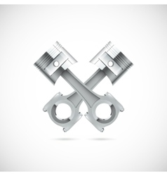 Two pistons white background vector image