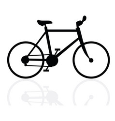 velocipede on white background vector image