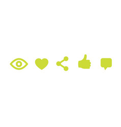 View like share thumb up comment icons vector