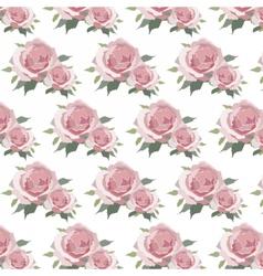 Watercolor Pink Roses pattern vector