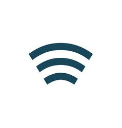 wifi signal of full strength connection icon vector image
