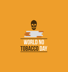 World no tobacco day background flat vector