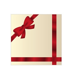 wrapped gift or gift card vector image