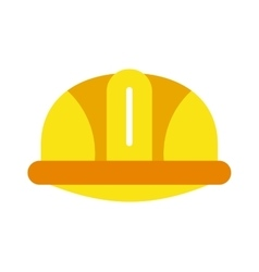 Yellow construction helmet safety industry vector