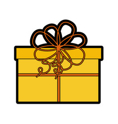 cute christmas gift cartoon vector image vector image